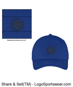 Royal Structured Six-Panel Twill Cap Design Zoom