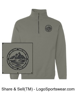 Men's Nano Fleece 1/4 Zip Sweatshirt Design Zoom