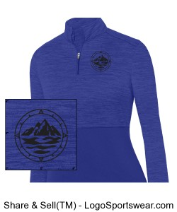 Women's Heathered 1/4 Zip Design Zoom
