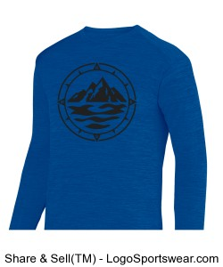 Men's Heathered Long Sleeve Tee Design Zoom